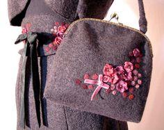 Charming elegant bag with romantic flowers. $50.00, via Etsy.