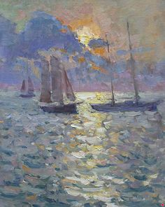 Heading Home by Richard Oversmith Oil ~ 20 x 16