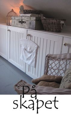 attic room - with cabinets long knee wall - great use of space for storage