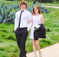 Evan Peters & Emma Roberts