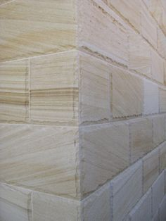 Coogee sandstone floor tiles, paving and wall cladding in sawn, sandblasted & rockface finishes. House Cladding, Wall Cladding, Facade House, Cladding Ideas, Sandstone Fireplace, Sandstone Wall, Exterior Tiles, Exterior Cladding, Brick Feature Wall