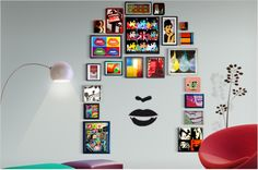 A modern pop twist for your walls? Try damage-free Command™ Picture Hanging Strips to make your walls sing!