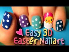 How to do an easy 3d Easter Nailart Design ♥ Chick in an eggshell