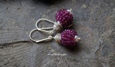 Turmalin - Ohrhänger Turmalin Perle 925 Silber - ein Designerstück von edelsteinreich bei DaWanda