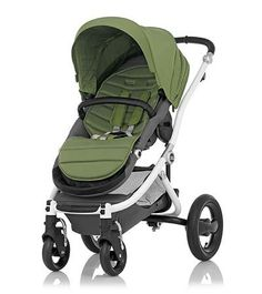 Affinity Stroller by Britax - White base frame with Cactus Green color pack - Britax USA