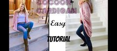 Super soft and supper comfortable, this crochet cocoon cardigan is chic and amazing. The choice of yarn is very important and you need to use yarn that is very soft to create the same casual and at the same time airy, soft and fluffy feeling. The Easy Crochet Cocoon Cardigan video tutorial, courtesy of Annoo …
