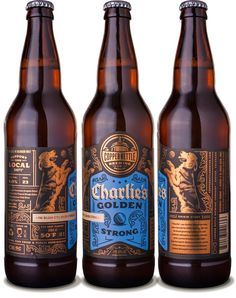 Copper Kettle Charlie's Golden Strong Ale - designed by Emrich Office