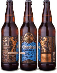 Copper Kettle Charlie's Golden Strong Ale - designed by Emrich Office