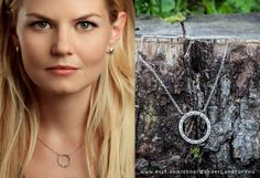 Emma Swan circle pendant // Dark Swan // Once upon a time // for OUAT fans //