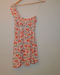 #River island size 14 60's 70's #floral print one #shoulder dress pink vgc,  View more on the LINK: http://www.zeppy.io/product/gb/2/172341241781/