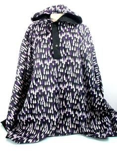 MARIMEKKO Purple Raindrop Print Reversible Poncho Anorak Rain Jacket One Size #Marimekko #Poncho Ikea Fabric, Marimekko, Rain Drops, Rain Jacket, Fabrics, Hoodies, Purple, Blouse, Sweaters