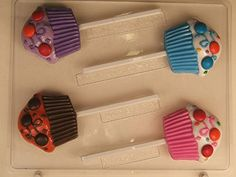 Cupcake w swirls confetti  cavities for hard shelled candies AO242 All Occasion Chocolate Candy Mold >>> Check this awesome product by going to the link at the image.