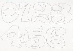 Molde de letras y numeros   RECREAR - MANUALIDADES - ARTE Letter Templates, Cnc, Lettering, Ideas, Designer Fonts, Wooden Letters, Letter Stencils, Unicorn, Parties Kids