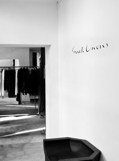 writing on the wall. Rick Owens retail space