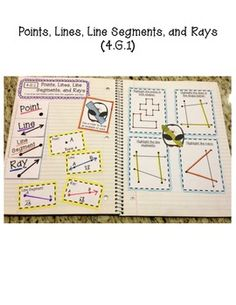 4TH GRADE INTERACTIVE MATH NOTEBOOK - GEOMETRY - TeachersPayTeachers.com