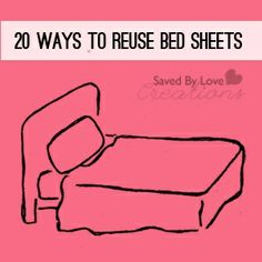 20+ Bed Sheet #Repurpose Ideas @savedbyloves