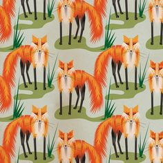 Foxes pattern by JTO