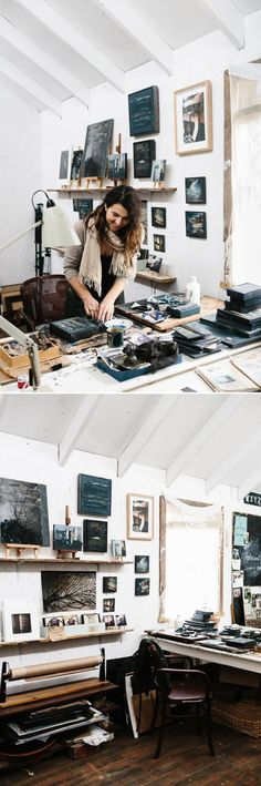 Helene Athanasiadis  working in her studio