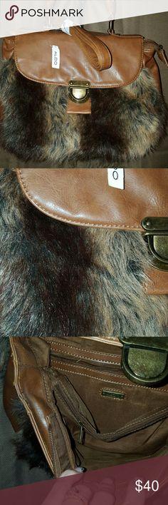 """Gorgeous faux fur Aldo purse Comes with shoulder strap. Length 12"""". Height 9.5"""". Width 3"""". Aldo  Bags"""