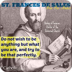"""St. Francis de Sales was a Doctor of the Church & a saint who wrote much about spiritual direction for the """"everyday"""" person. Read more about his stellar book, """"Introduction to the Devout Life"""" here, with a link to purchase this must-read classic."""