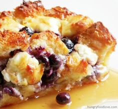 Blueberry Vanilla Bean Bread Pudding