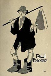 Paul Beckers, Karikatur (vor 1914) von Paul Haase