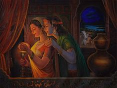 de Saint-Exupery rough translation: Love is not looking at each other it is looking together in the same direction. Krishna Leela, Radha Krishna Photo, Krishna Radha, Lord Krishna, Radha Rani, Hanuman, Shiva, Ganesha Painting, Radha Krishna Wallpaper