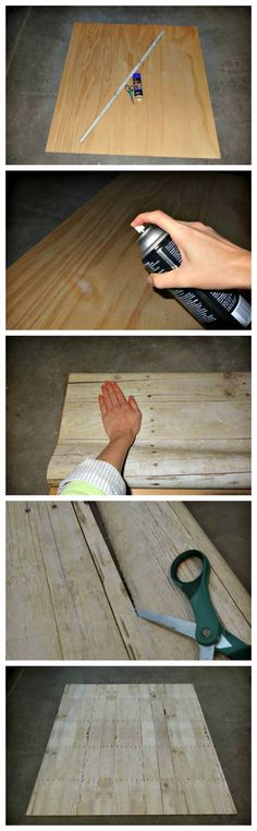 Faux wood backdrop idea, easy and cheap.
