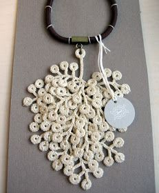 bijoux crochet 1 on pinterest crochet necklace crochet