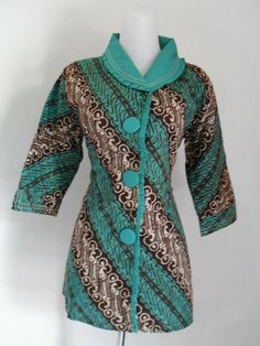 Batik parang kombinasi African Lace, African Wear, African Fabric, Blouse Batik, Batik Dress, Myanmar Traditional Dress, Traditional Dresses, Ghanaian Fashion, African Fashion