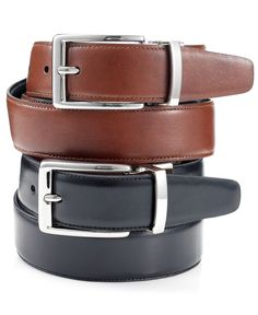 Tasso Elba 32mm Italian Glove Calf Reversible Dress Belt