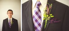 Purple and Green Wedding Colors for the Groom!