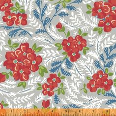 Hazel Large Floral Grey by Cluck Cluck Sew for Windham Fabrics