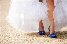 Blue wedding shoes?  Hummm.