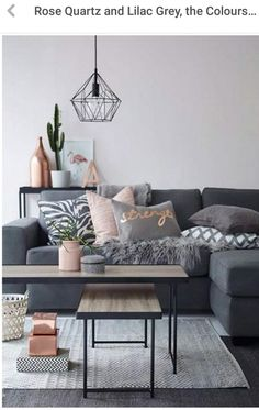 Blush Gray And Copper Room Decor Inspiration