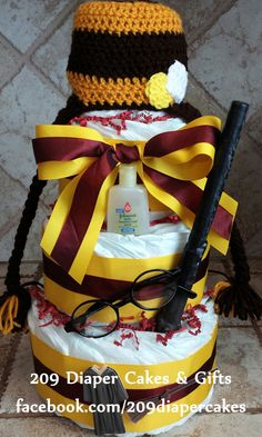 Harry Potter Diaper Cake by 209 Diaper Cakes & Gifts - facebook.com/209diapercakes