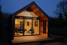 Garden Annex — White Peak Design and Build Ltd Roof Design, House Design, Contemporary Garden Rooms, Cedar Cladding, Black Cladding, Garden Cabins, Garden Studio, Modern Barn, Garden Office