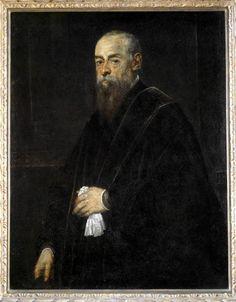 TINTORET - Portrait d'homme âgé tenant un mouchoir - 1570-1575 - Louvre
