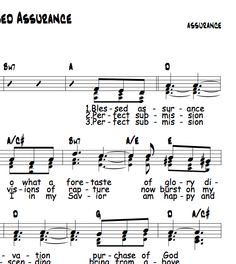 Blessed Assurance, Capo 2 in D
