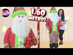 Papa Noel gigante de 1.60 metros de alto (Moldes Gratis) | Epdlm - YouTube Ronald Mcdonald, Christmas Decorations, Youtube, Crafts, Fictional Characters, Craft Ideas, Snowman, Christmas Ornaments, Craft