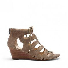 Brindle Lace Up Wedge Sandal | Freyaa | Free Shipping on Orders $50+