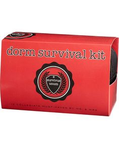 Give this clever dorm survival kit to the college student in your life. The kit comes with 12 college essentials. Get it here: http://www.bhg.com/shop/paper-source-dorm-survival-kit-p517ba346e4b041d621bfcde1.html