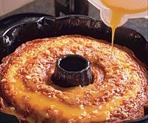 Orange Soaked Bundt Cake - This amazingly moist and delicious cake is adapted from a favorite family recipe of Bianca Henry, a New York pastry instructor. The cake is incredibly moist, with strong orange flavor and they're not kidding when they say that the flavor and moistness greatly improves with time. A great alternative to chocolate cake for a holiday dessert.