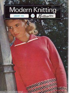 Modern Knitting January 1965 - Vintage Machine Knitting Magazine with Patterns