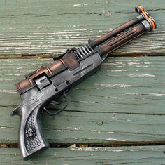 Steampunk Victorian TESLA  CAP Gun  VAMPIRE  killer. $14.99, via Etsy.
