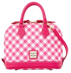 Darling gingham satchel