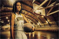 Now that's a cool basketball senior picture! #arisingimages #seniors #basketball #photoshoot #sports #girl