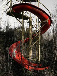 The colour makes this helter skelter creepier