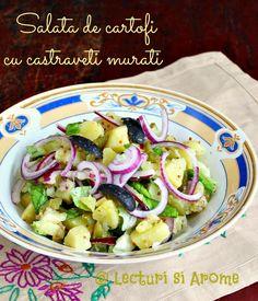 Salata de cartofi cu castraveti murati O alta reteta simpla de salata, si pe care o putem face in orice sezon, este si aceasta reteta de salata de cartofi cu castraveti murati pe care probabil o stiti si voi si o si faceti. Poate nu chiar in varianta asta pe care v-o propun eu astazi, … Vegetarian Recipes, Cooking Recipes, Potato Salad, Cabbage, Food And Drink, Potatoes, Vegetables, Ethnic Recipes, Chef Recipes
