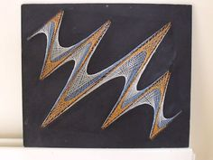 retro pin and string art